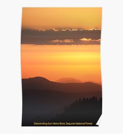 Descending Sun Moro Rock Poster