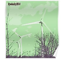 Windmils of Burton by whacky Poster