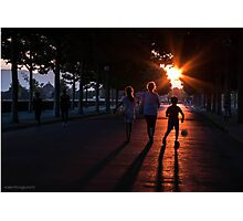 Sunset in Lucca Photographic Print