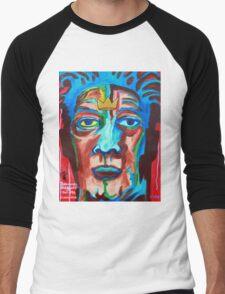 'Portrait of Jean-Michel Basquiat' Men's Baseball ¾ T-Shirt