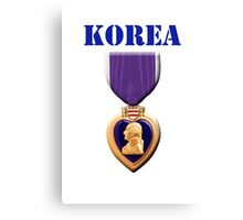 Purple Heart - Korea Canvas Print