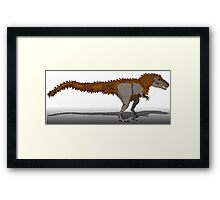 Tyrannosaurus Rex (with extra fuzz) Framed Print