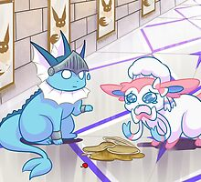 Sylveon Vaporeon: Crying Over SPilled Pancakes by Uluri