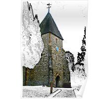 St Mary's Church. Hadlow. Kent. UK Poster