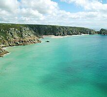 Porthcurno beach, Cornwall by rkdownton