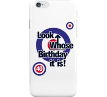 Who Birthday Card (Add any Age - no extra cost!) iPhone Case/Skin