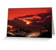 Sunset 8-19-10 Greeting Card