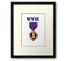 Purple Heart - WWII Framed Print