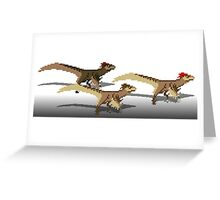 Utahraptor Greeting Card