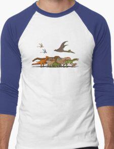 Mesozoic Procession Men's Baseball ¾ T-Shirt