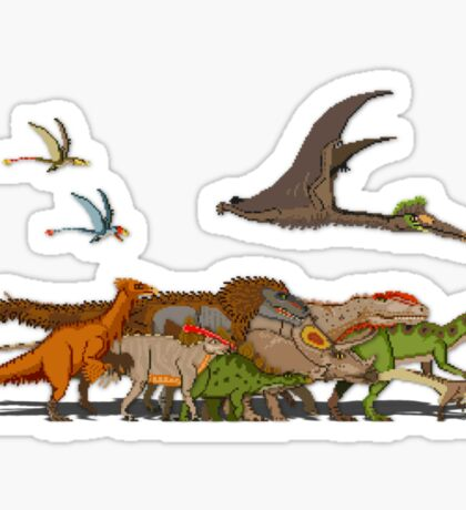 Mesozoic Procession Sticker