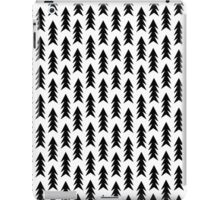 Trees - black and white modern minimal camping nature wanderlust hipster vintage retro classic natur iPad Case/Skin