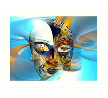 """mask series"" Expressionless  Art Print"