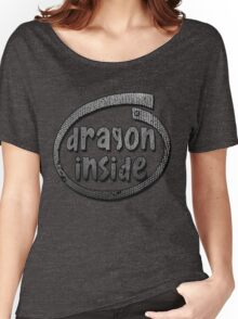 Dragon Inside Grayscale Women's Relaxed Fit T-Shirt