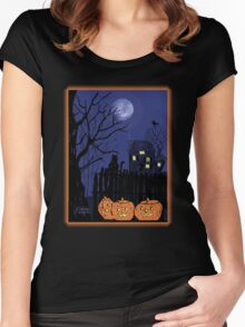 Spooky Night Women's Fitted Scoop T-Shirt