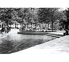 Fountain Pool, Boston Photographic Print