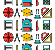 Back To School Pattern Photographic Print