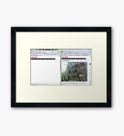 Did you know?? - A little trick to help your busy day on Redbubble! Framed Print
