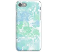 Green-blue watercolor iPhone Case/Skin