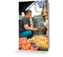 Farmers Market Greeting Card