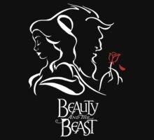 Disney Beauty and the Beast - Beauty, Beast and the Rose T-Shirt
