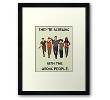 The Walking Dead - Rick, Glenn, Daryl, Michonne & Carl Framed Print