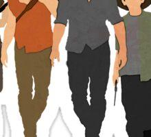 The Walking Dead - Rick, Glenn, Daryl, Michonne & Carl Sticker