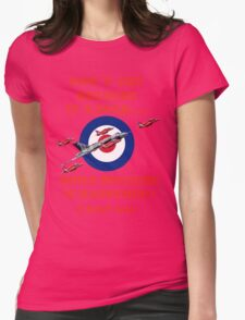 Vulcan Final Flight With The Red Arrows - Tee Shirt Womens Fitted T-Shirt