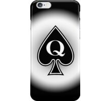 Smartphone Case - Queen of Spades - Metallic iPhone Case/Skin