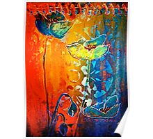 The Poppy Journals...Blue and Red Poster