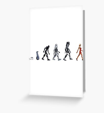Evolution of The Cylon Greeting Card