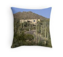 At Home in the Cactus Throw Pillow