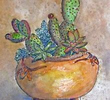 Cacti and Pottery by Betty Burnitt