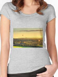 Hot Air Balloons at Twilight Women's Fitted Scoop T-Shirt