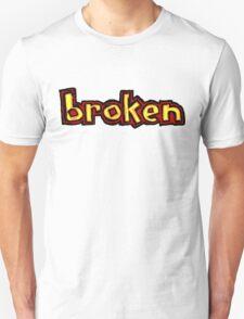 Broken Blind logo Red orange and yellow T-Shirt