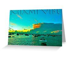 Miami Vibe Greeting Card
