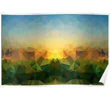 Sunrise Polygon Art Poster