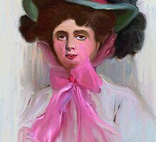 Lady Kiefer in a Pink Hat 1908 by suzannem73