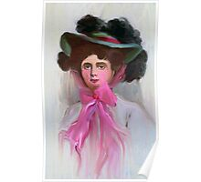 Lady Kiefer in a Pink Hat 1908 Poster