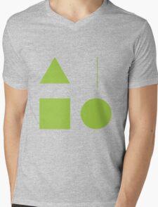 Basic shapes that we love, Simpledo Mens V-Neck T-Shirt