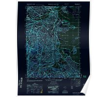 Massachusetts  USGS Historical Topo Map MA Boston South 350874 1954 25000 Inverted Poster
