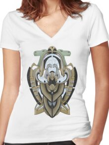 Claddagh Hawk Women's Fitted V-Neck T-Shirt