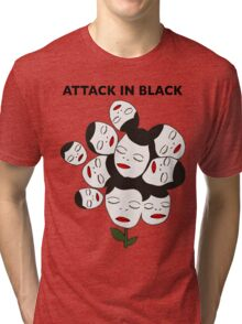 Attack In Black Tri-blend T-Shirt