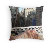 Sleeping Shutterbug Throw Pillow