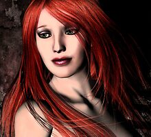 Scarlet Turning Closeup by NamiKage