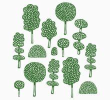 Arboretum 230715 - Dark Green on White by Artberry