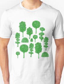 Arboretum 230715 - Dark Green on White T-Shirt