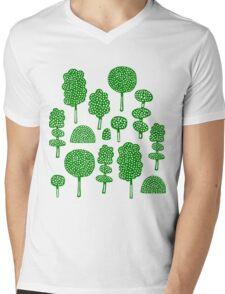 Arboretum 230715 - Dark Green on White Mens V-Neck T-Shirt
