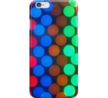 Defocused and blurry image of multicolored lights iPhone Case/Skin