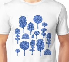 Arboretum 230715 - Navy Blue on White Unisex T-Shirt